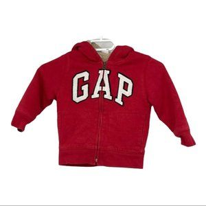 Gap kids red hoodie with faux fur lining 4T